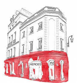 Heroes Heroes Trade show Pop Up Store Salon by Babybrand & Gerald Cohen