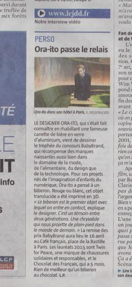 LE JOURNAL DU DIMANCHE – 28/03/2015
